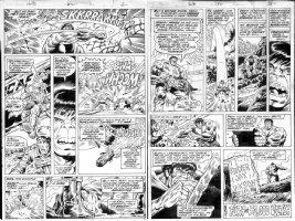 TRIMPE, HULK - Incredible Hulk #182 story art- pages 2 &  17 (1st Wolverine storyline) Comic Art