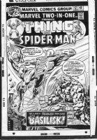 WILSON, RON / JOE SINNOTT - Marvel Two-In-One #17  cover, Thing & Spider-Man Comic Art