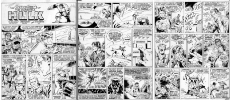 TRIMPE, HERB - Hulk 3 pg Origin story 1970s Comic Art