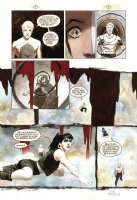 HAMPTON, SCOTT -  Sandman Presents: Lucifer miniseries #2 painted pg with lettering overlay Comic Art