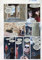 HAMPTON, SCOTT - Books of Magic graphic novel #2 painted page - 1st Tim Hunter story with Zatanna + Deadman as Holloween kid Comic Art