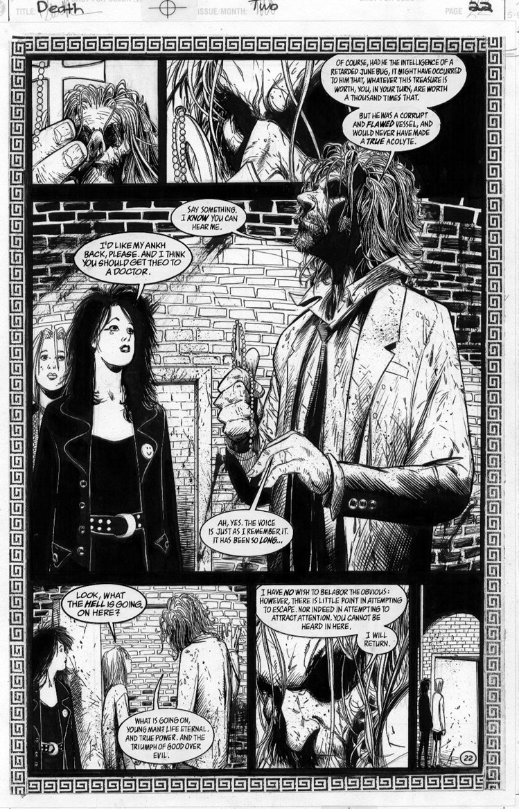 BACHALO, CHRIS - DEATH HCOL #2 pg22 of 26 pg story art Comic Art