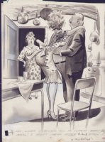 COLE, JACK - Timely maid cartoon art 1950's Comic Art
