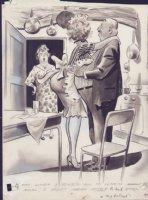 COLE, JACK - Timely maid cartoon art 1950's Comic Art
