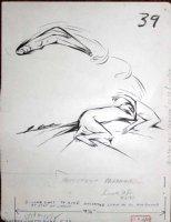 COLE, JACK - Playboy Magazine, good-girl cartoon Sept 1955 Comic Art