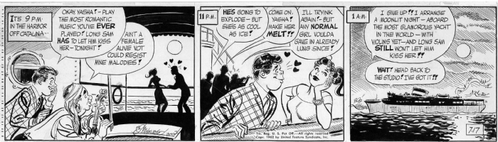 LUBBERS, BOB - Long Sam daily 7-17-62 Comic Art