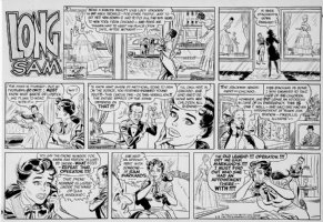 LUBBERS, BOB - Long Sam Sunday 4-15-1956 Comic Art
