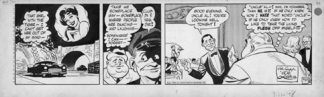 LUBBERS, BOB - Long Sam daily 9-21-1954 Comic Art