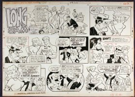 LUBBERS, BOB - Long Sam Sunday 6-16-1957, Jane Mansfield satire Comic Art