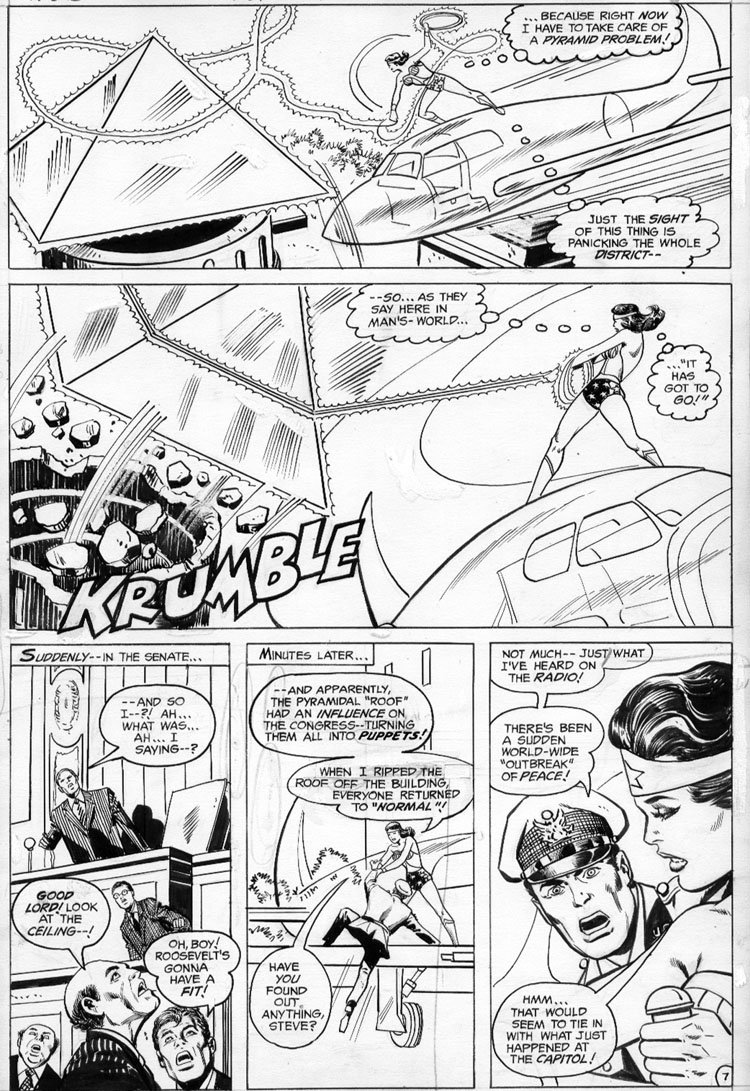 BROWN, BOB - Wonder Woman #231 page 7 Comic Art