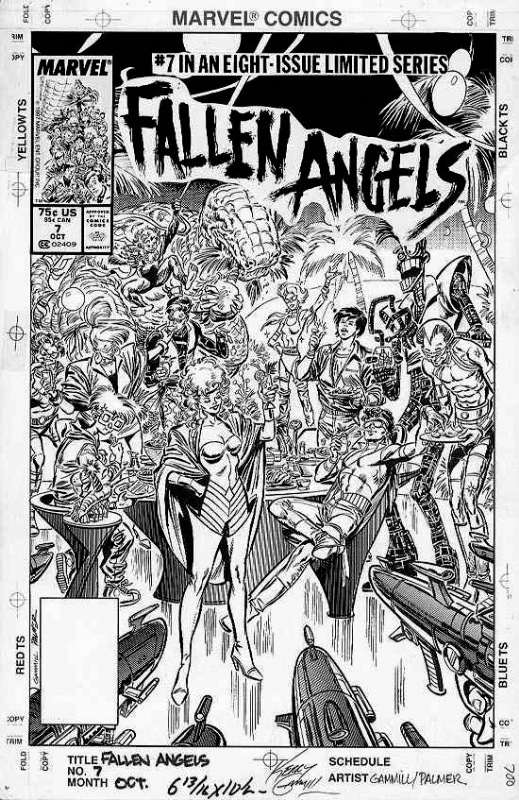 GAMMILL, KERRY / PALMER - Fallen Angels #7 cover new Xmen Comic Art