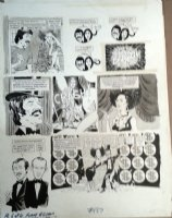 TORRES, ANGELO - Mad #157 story pg 6, Sonny & Cher TV Satire + Smothers Brothers 1973 Comic Art