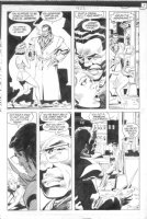 BRIGHT, MARK - Batman #422 pg 13 Robin, woman slapped, Comic Art