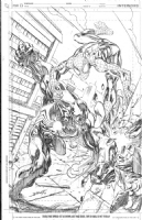 Mark Bagley Spider-man vs. Venom commission Comic Art