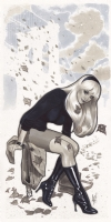 Adam Hughes Gwen Stacy convention sketch Comic Art