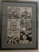 Silver Surfer Page - framed Comic Art