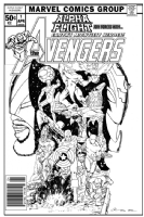 Alpha Flight / Avengers Issue 01 - Cover (Imaginary) Comic Art