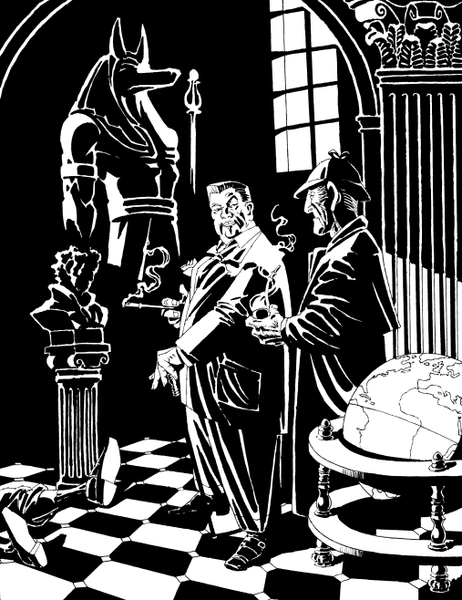 Sherlock Holmes & Charlie Chan in The Singular Affair of the Accursed Statue Comic Art