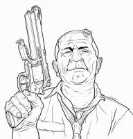 GEOF DARROW - NIXON HARD BOILED Comic Art