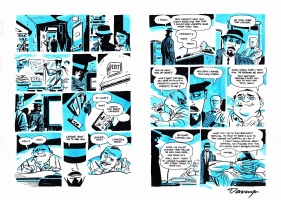 DARWYN COOKE - PARKER THE OUTFIT PAGE 64 AND 65  Comic Art