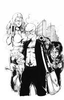 DARICK ROBERTSON - TRANSMETROPOLITAN PIN UP Comic Art