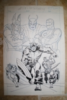 Marvel Triple Action Cover (unpublished?) Comic Art