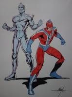 Commander Steel and Robotman by MC Wyman Comic Art