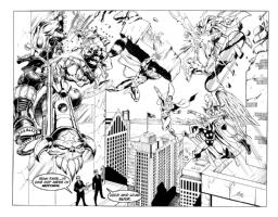 MIB vs...Superman, Gladiator, Hawkman, Thor, Lobo, Rocket Raccoon, Martian Manhunter, Silver Surfer Comic Art
