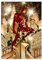 Daredevil on New Year's Eve by Thony Silas! Comic Art
