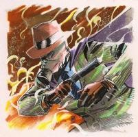 Sandman (Wesley Dodds) by Mike Henderson Comic Art