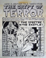 FELDSTEIN EC SPLASH PAGE   THE SPECTRE IN THE CASTLE  Comic Art
