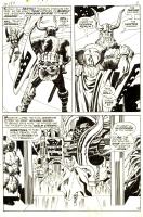 Jack KIRBY 1968 THOR 159 pg. 4 with Heimdall in ASGARD Comic Art