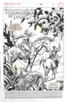 Rafael KAYANAN 1995 CONAN 12 pg 1 SPLASH Barry Smith style Comic Art