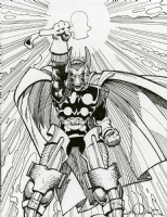 Walter Simonson The Mighty Thor Remarqued Artists Edition,Beta Ray Bill, Comic Art