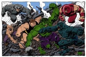 John Byrne Hulk Comic Art