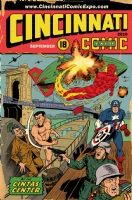 Cincinnati Comic Expo Poster,By Allen Bellman and Dan Davis.Captain America,The Human Torch and the Sub-Mariner Comic Art