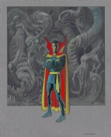 Dr Strange painting by Kevin Nowlan, Comic Art
