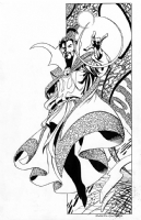 Alan Davis pencils and Joe Rubinstein inks on Dr Strange Comic Art