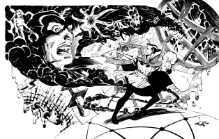 Paul Smith,Dr Strange Vs Dracula Comic Art