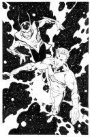 Marvelman/Miracleman and Aza Chorn the Warpsmith by Paul Smith Comic Art