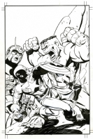 The Avengers featuring, Captain America,the Hulk,Thor,Iron Man Giant Man and The Wasp. Comic Art