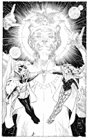 Dr Strange,The Ancient One and Clea, Comic Art