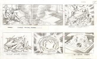 FANTASTIC FOUR (1978 Animated Series) storyboard Comic Art