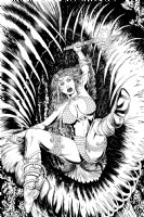 Red Sonja Vs. Mutated Vegetable, Comic Art
