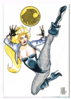 Black Canary Watercolor Sketch Card, Comic Art