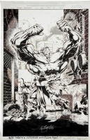 Black Panther #15 Hulk Splash Page Comic Art