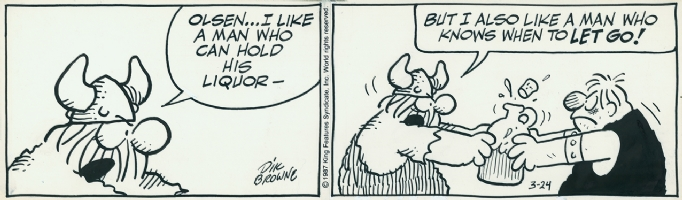 Hagar The Horrible, 1987, strip 1 Comic Art