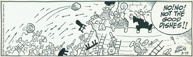 Hagar The Horrible, 1987, strip 2 Comic Art