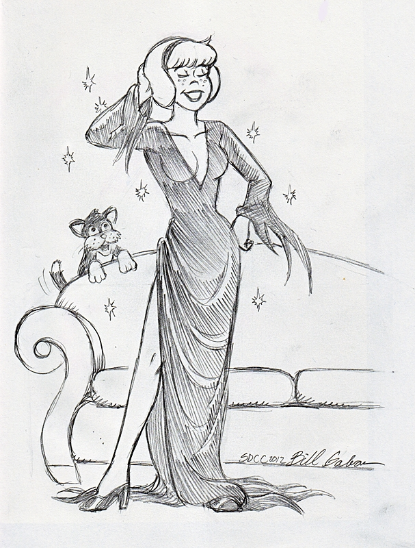 Bil Galvan - Sabrina the Teenage Witch (cute) as Elvira Comic Art