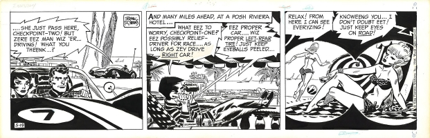 Frank Robbins - Johnny Hazard - 5-19-1966, Comic Art